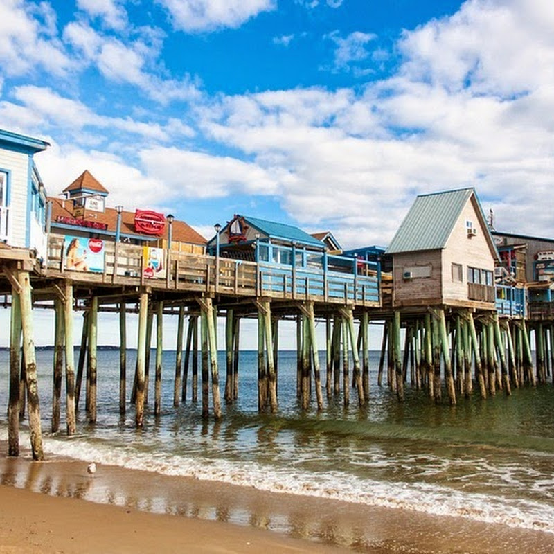 The Pier of Old Orchard Beach, Maine