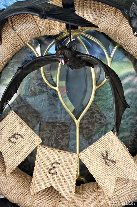 Spooky Bat Wreath