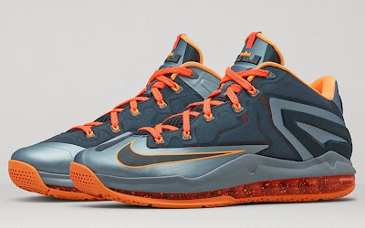 nike lebron 11 low gr grey orange lava 2 02 Nike LeBron 11 Low Magnet Grey Available Now