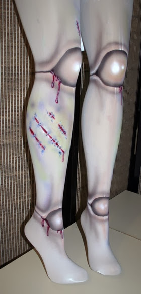 Medias Rodilla de Muñeca Zombie (Fake Zombie Doll Ball Joint Tights)