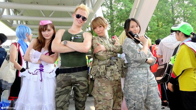matt and his army at Comiket 84 in Tokyo, Tokyo, Japan