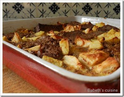 puddong de cake choco épices avec pomme poire et gingembre3