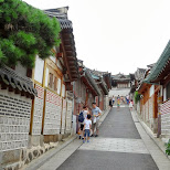 bukchon hanok village in Seoul, Seoul Special City, South Korea