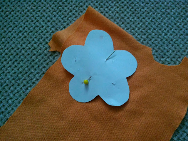 I chose to do a five petaled flower, but you can do six petals if you want.