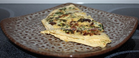 Another broccoli omelet - served