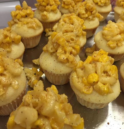 Macaroni and cheese cupcake from Jillycakes