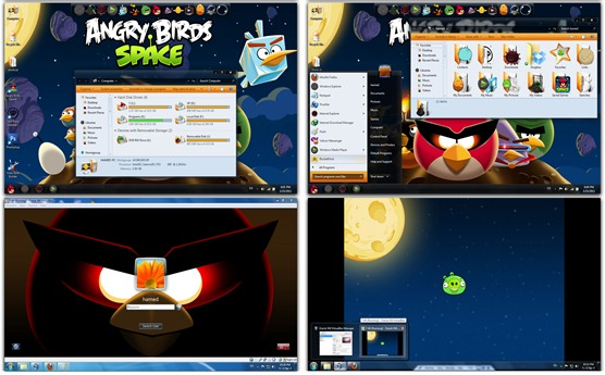 Angry Birds Space Skin Pack for Windows 7