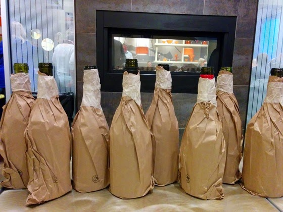 Bottles covered and randomly ordered so that even pourers remained in the dark.