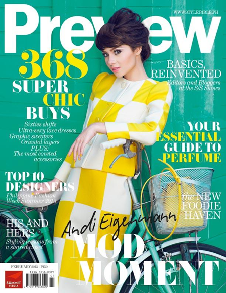 Andi Eigenmann on Preview Feb 2013 cover