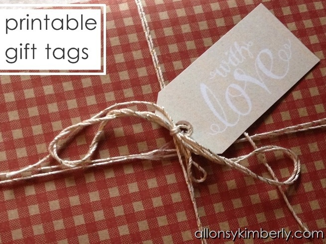 Free Christmas Printables: Gift Tags | allonsykimberly.com