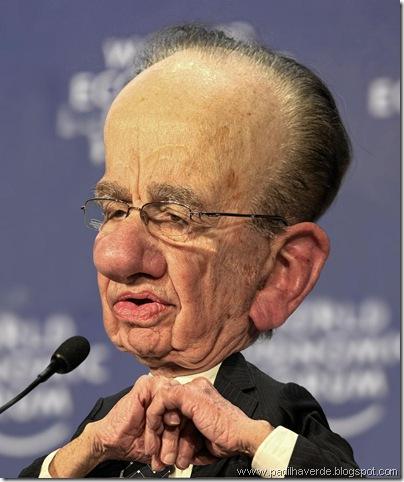 Caricatura Rupert Murdoch