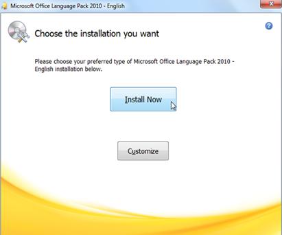 การติดตั้งเมนูภาษาไทยใน Microsoft office 2010