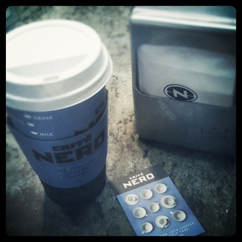 #47 - a free hot drink and a new stamp card at Caffe Nero