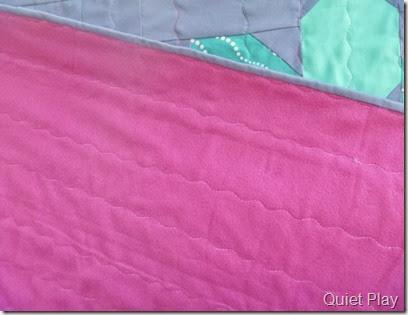 Pink backing