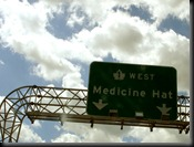 medicine hat alberta highway sign trans canada