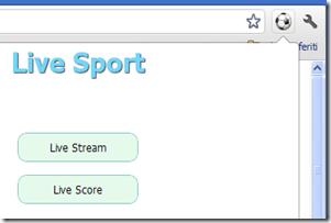 Live Sport menu