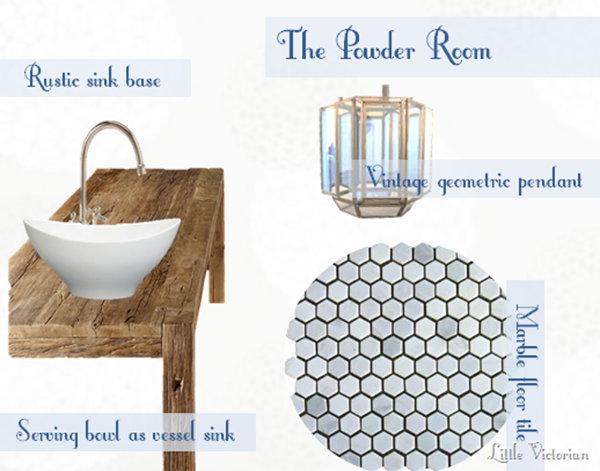 Powder room mood board