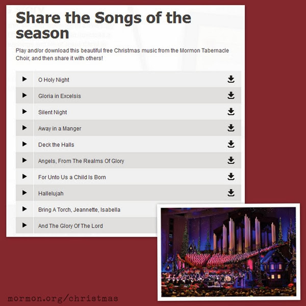 10 Free Christmas Carol Downloads from The Mormon Tabernacle Choir