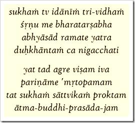 Bhagavad-gita, 18.36-37