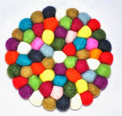 Felt Wool Ball Tea Mat