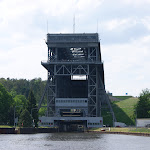 DSC00061.JPG - 17.05.2013. Podnośnia statków w Niederfinow (kanał Havela - Odra (HOW)); widok z poziomu dolnego