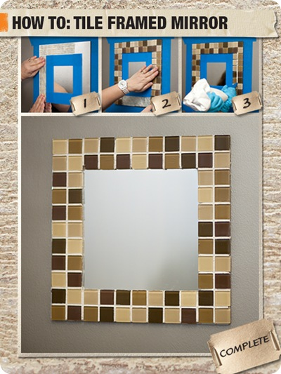 how to tile a mirror