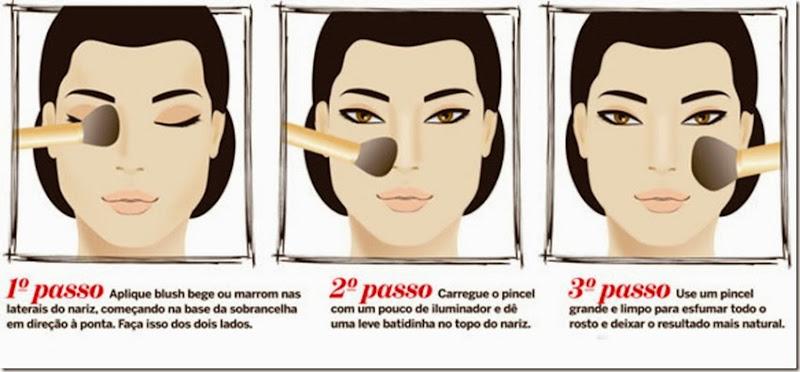 Truque de maquiagem para Afinar Nariz - 1 - 17sep13