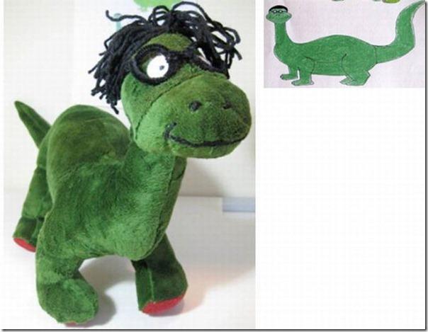 Brinquedos de pelúcia feitos a partir de desenhos de crianças (6)
