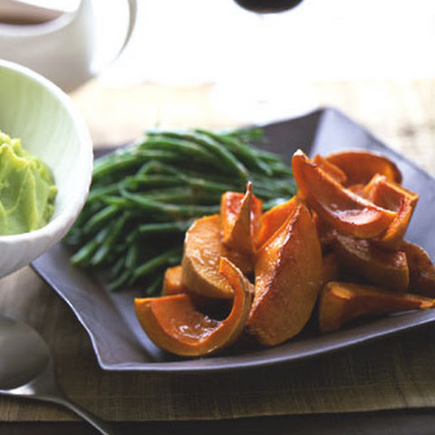 Green Beans and Roasted Squash with Sherry Soy Butter