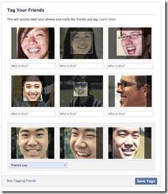 riconoscimento facciale su facebook