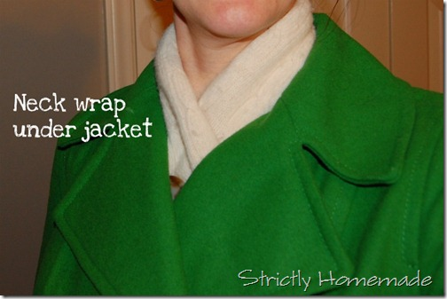 Neck wrap under jacket