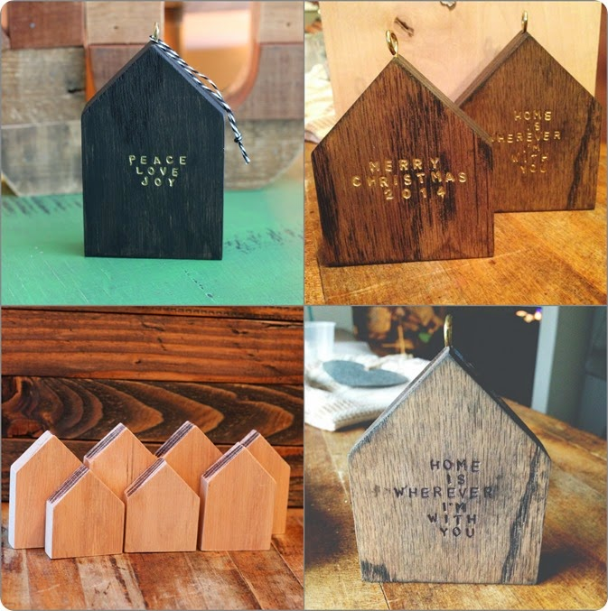 Little wooden houses and wood house ornaments