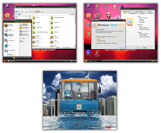 Kaskus Skin Pack 1.0 for Windows XP