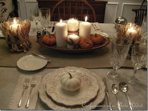I definitely think my burlap table runner will be back as well as the dinnerware. Beyond that\u2026I\u0027m still working on it. What about you? & CONFESSIONS OF A PLATE ADDICT: 10_11