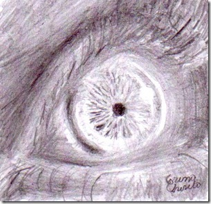 ochi desen in creion - Pencil drawing of an eye