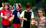 Kids and sparklers.