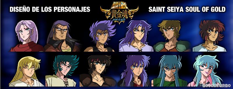 Perfiles y Diseño de los personajes en Saint Seiya Soul of Gold!