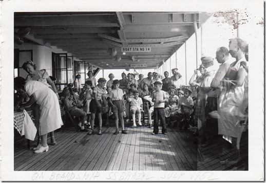 Kid's Games on the S.S. Brazil July 1952