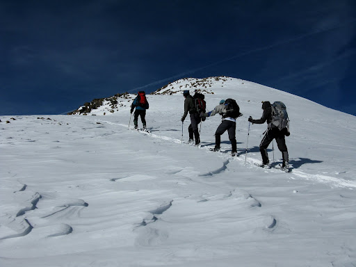 Nearing the summit. No talus to deal with!