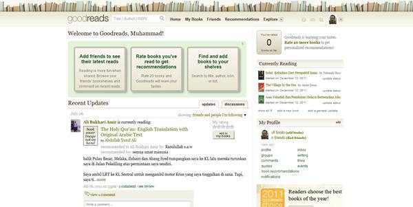 Goodreads: Laman sosial untuk bibliofilia
