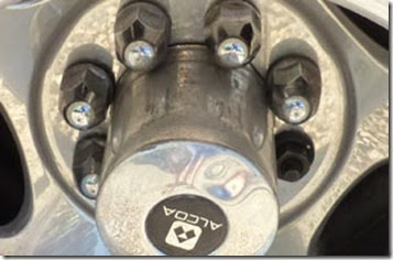 Lost lug-nut cover