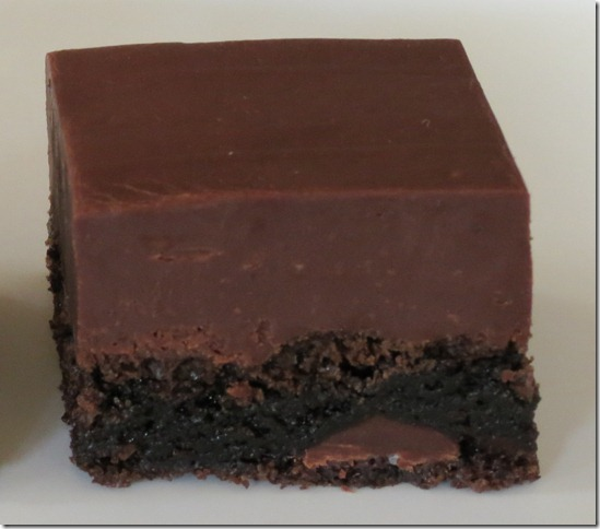 Fudge Topped Brownies 3