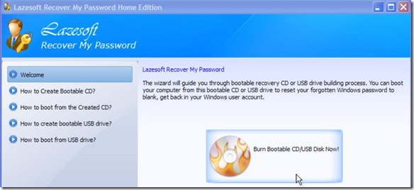 Lazesoft Recover My Password Home Edition