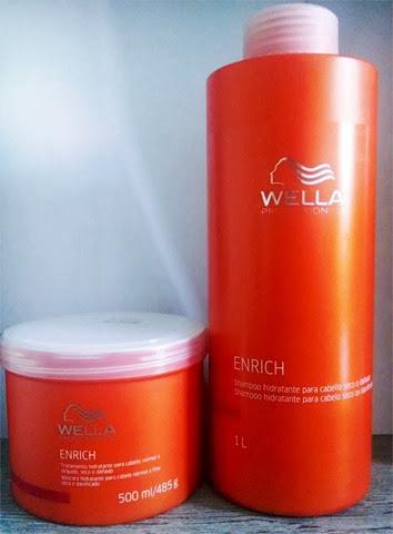 shampoo e tratamento wella