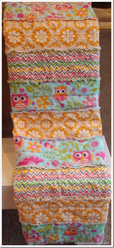 {Northern Cottage} fresh modern colorful owl quilt