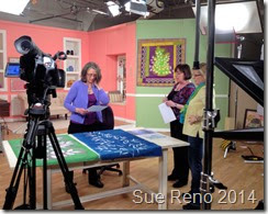 Sue Reno, QATV Workshop,  filming set up