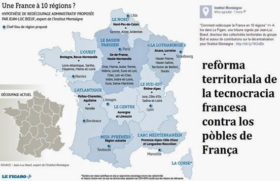 mapa de la reforma territoriala version Institut Montaigne