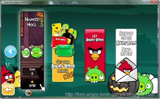 Free Download Angry Birds Seasons v3.0.0 Haunted Hogs PC Games