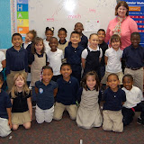 WBFJ Cici's Pizza Pledge - Forsyth Academy - Ms. Lane's Kindergarten Class - Winston-Salem - 10-17-1
