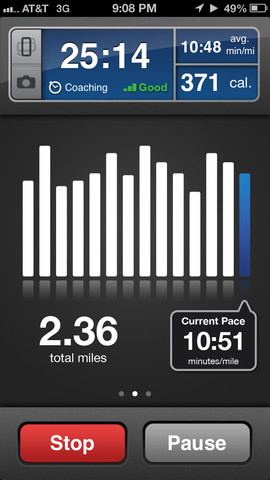 Runkeeper screen